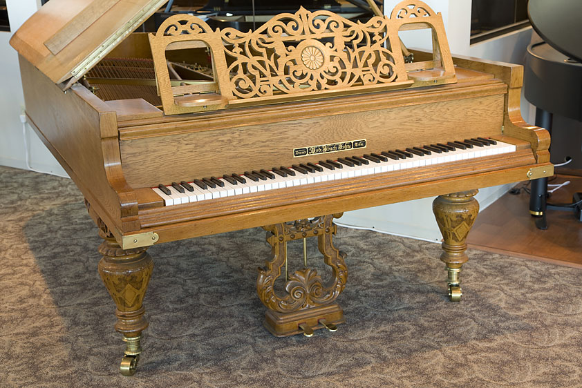 1885 used Iback Semi-Concert Grand Piano