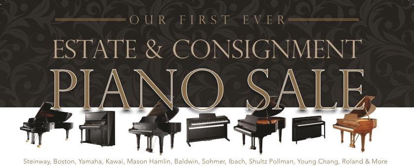 Estate & Consignment Piano Sale